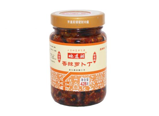 地道湘香辣萝卜丁428g