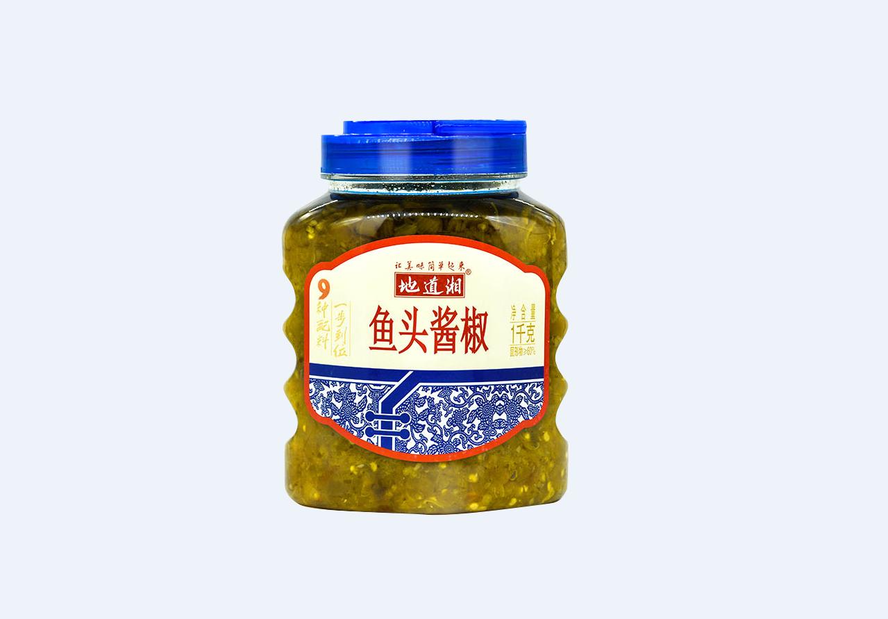 地道湘鱼头酱椒1000g