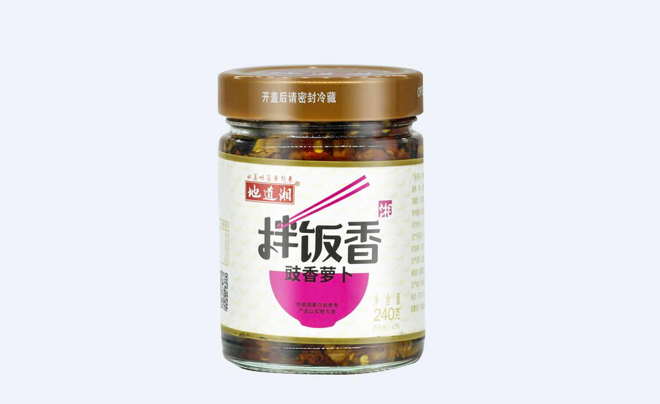 地道湘拌饭香豉香萝卜240g