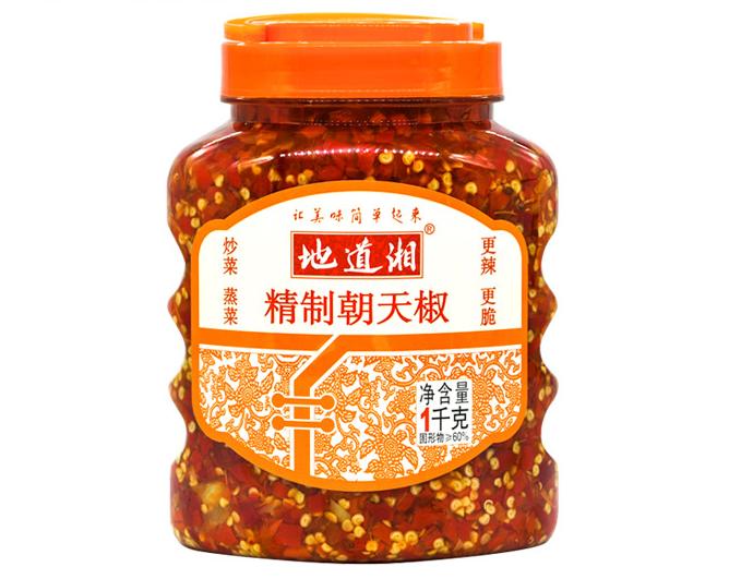 地道湘精制朝天椒1000g
