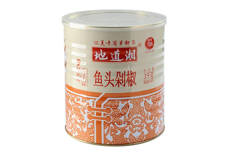 地道湘鱼头剁椒3kg